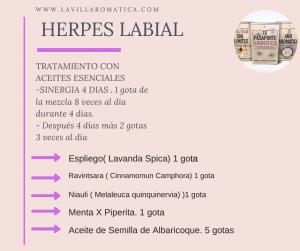 tratamiento natural contra el herpes labial